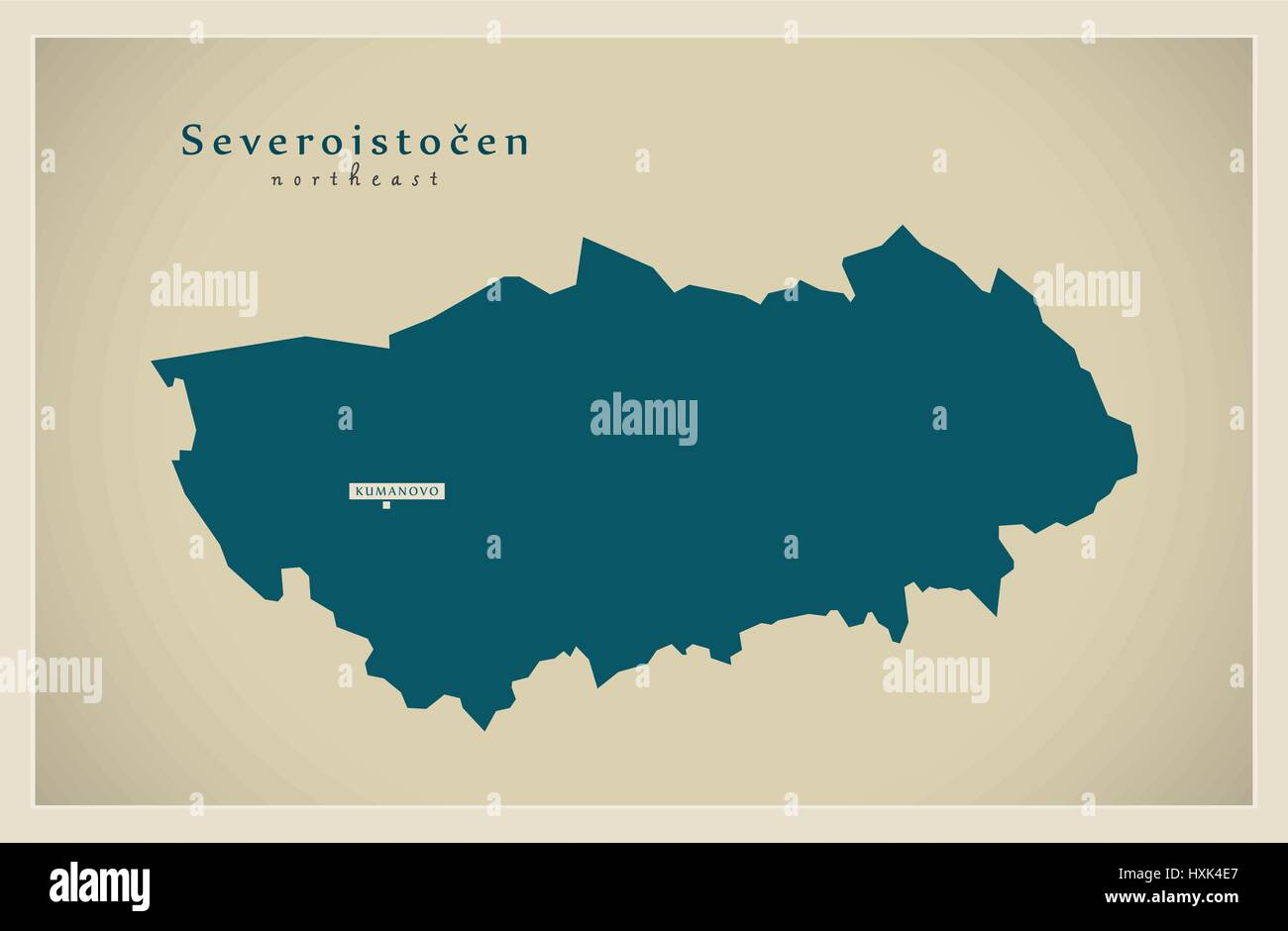 Modern Map - Severoistocen MK - Stock Vector