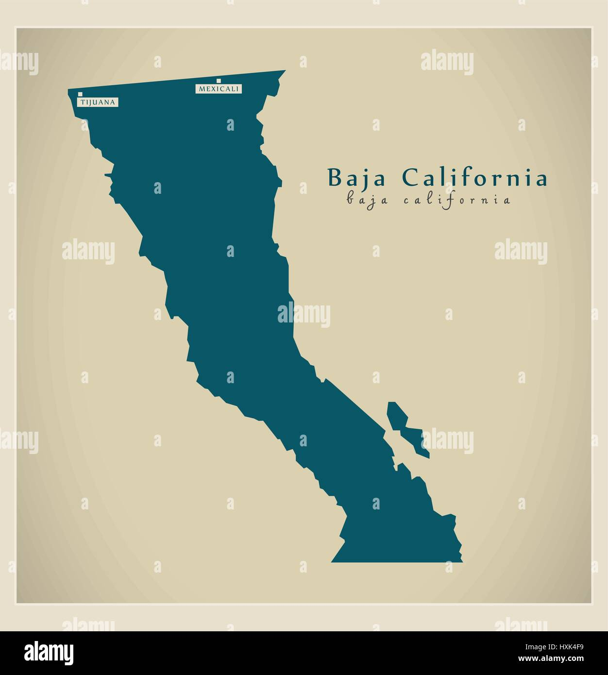 Picture of: Modern Map Baja California Mx Stock Vector Image Art Alamy