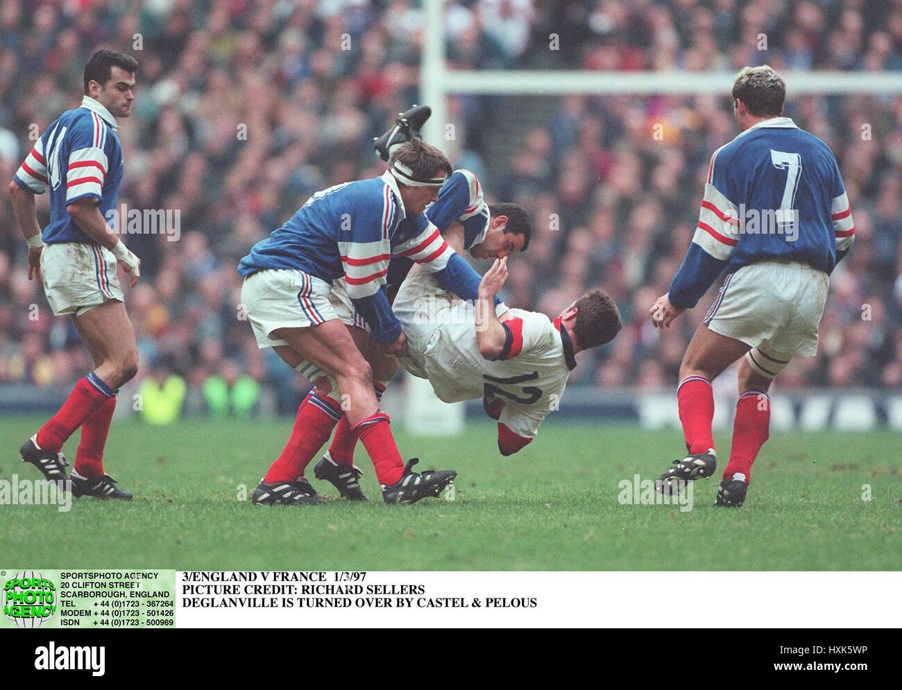 DE GLANVILLE GETS TURNED OVER BY CASTEL & PELOUS OF FRANCE 01 March 1997 - Stock Image