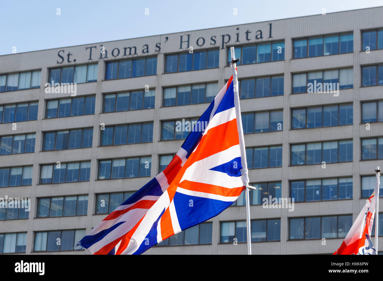 St. Thomas Hospital, London England United Kingdom UK - Stock Image