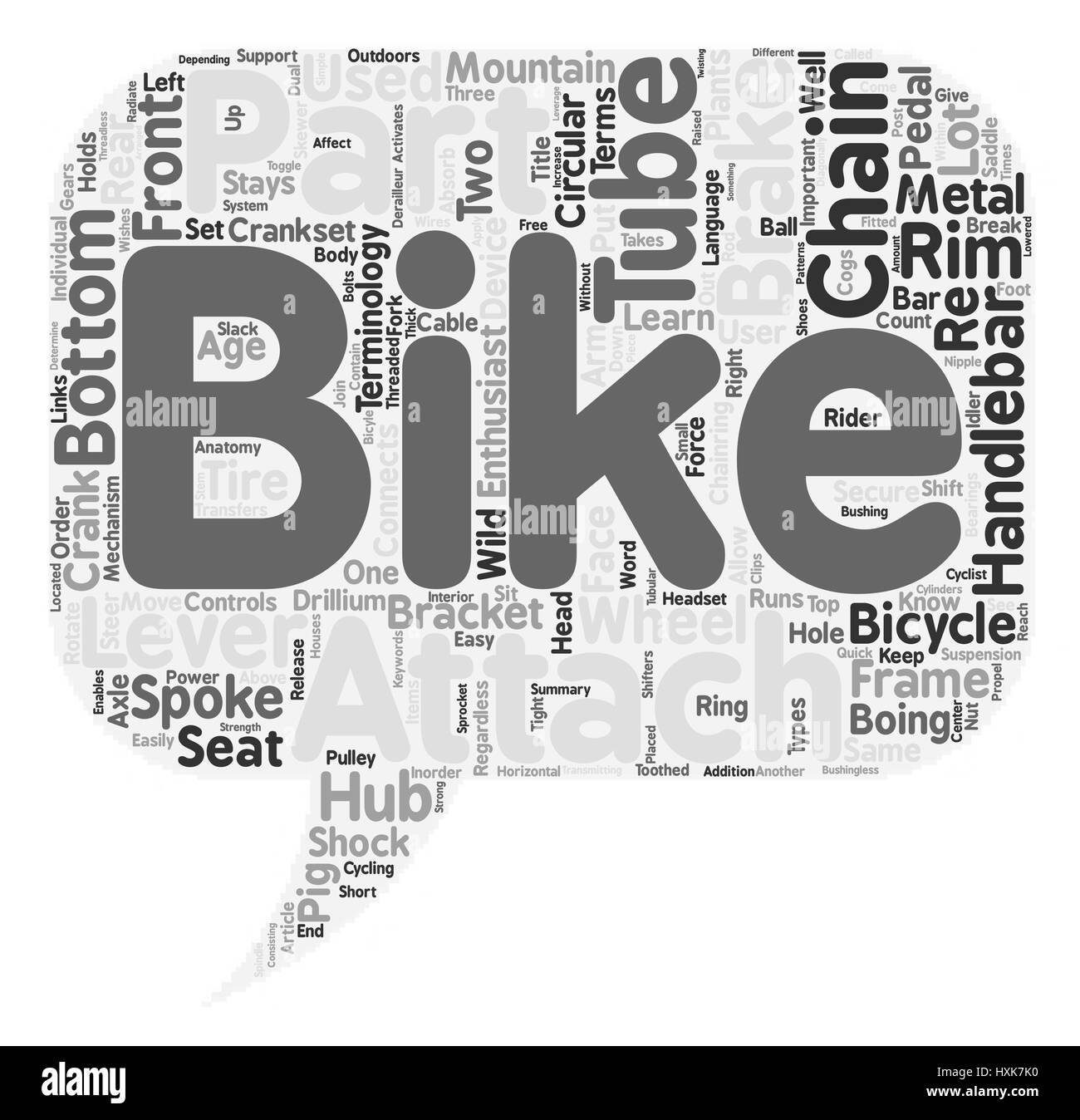 The Anatomy Of A Mountain Bike text background wordcloud concept ...