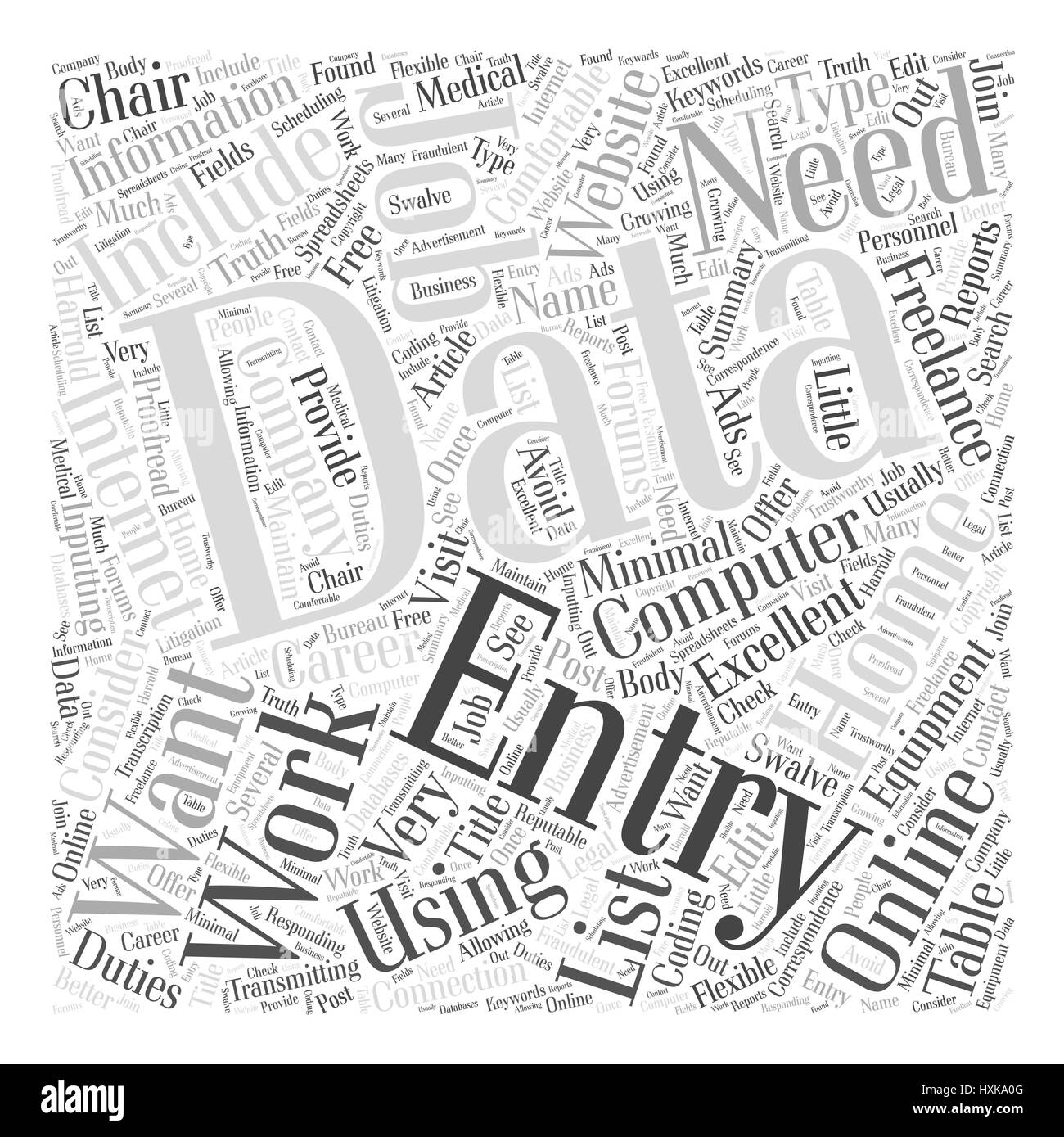 The Truth about Data Entry Work at Home Jobs Word Cloud Concept ...