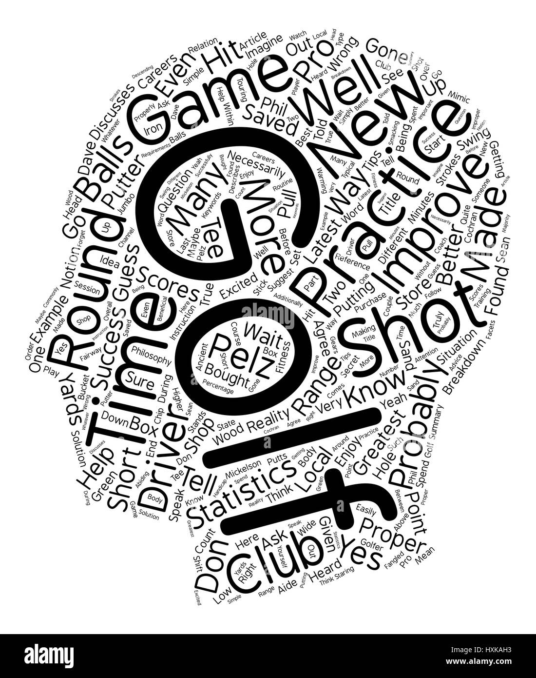 There s A Better Way To Improve Your Golf Game text background wordcloud concept - Stock Image