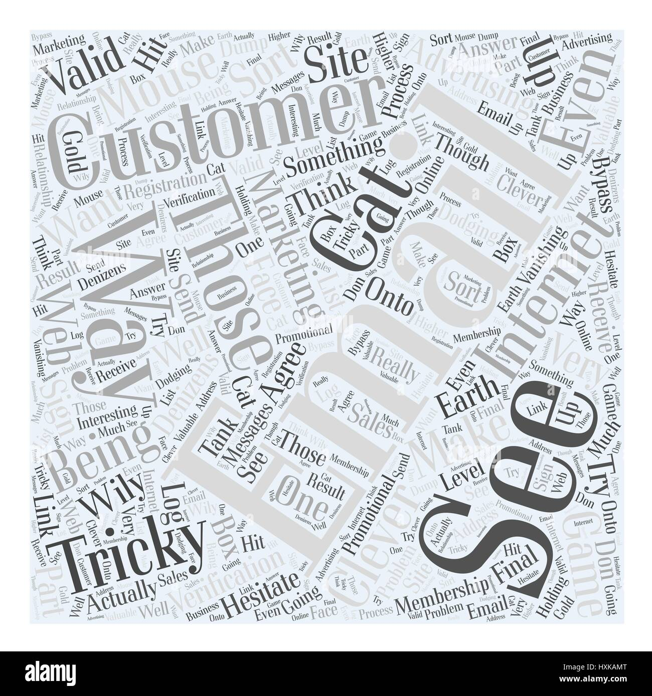 Those Tricky Customers Word Cloud Concept - Stock Vector