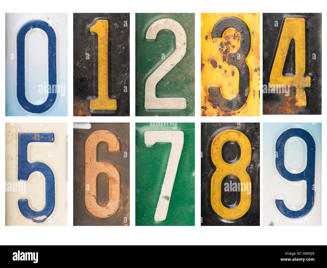 License Plate Numbers Stock Photos & License Plate Numbers Stock ...