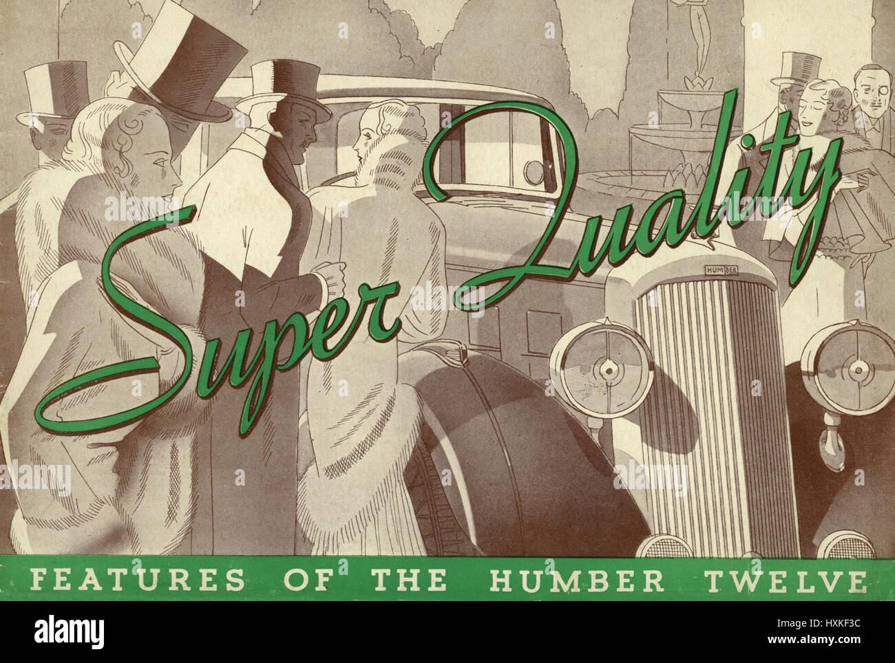 1934 Humber Twelve - Stock Image