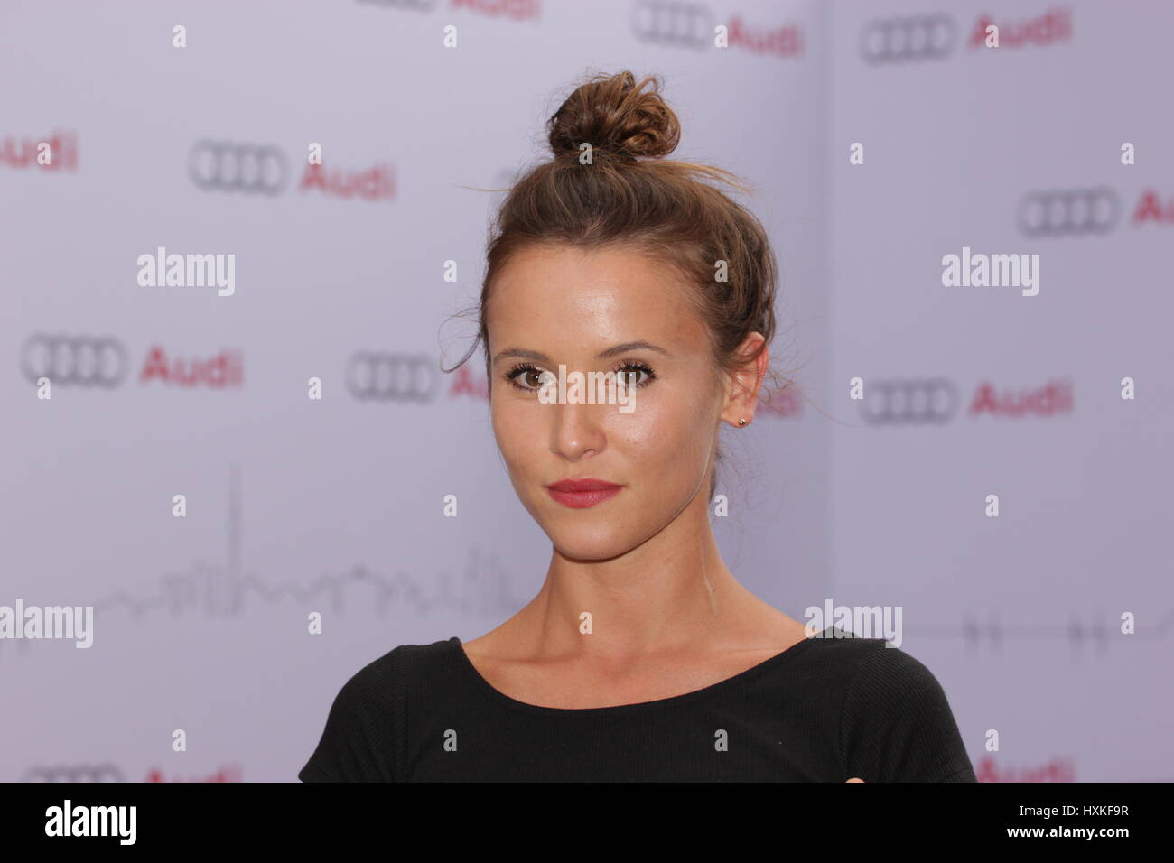 Berlin, Germany, August 13th, 2014: Red carpet arrivals for Audi Classic Open  Air. - Stock Image
