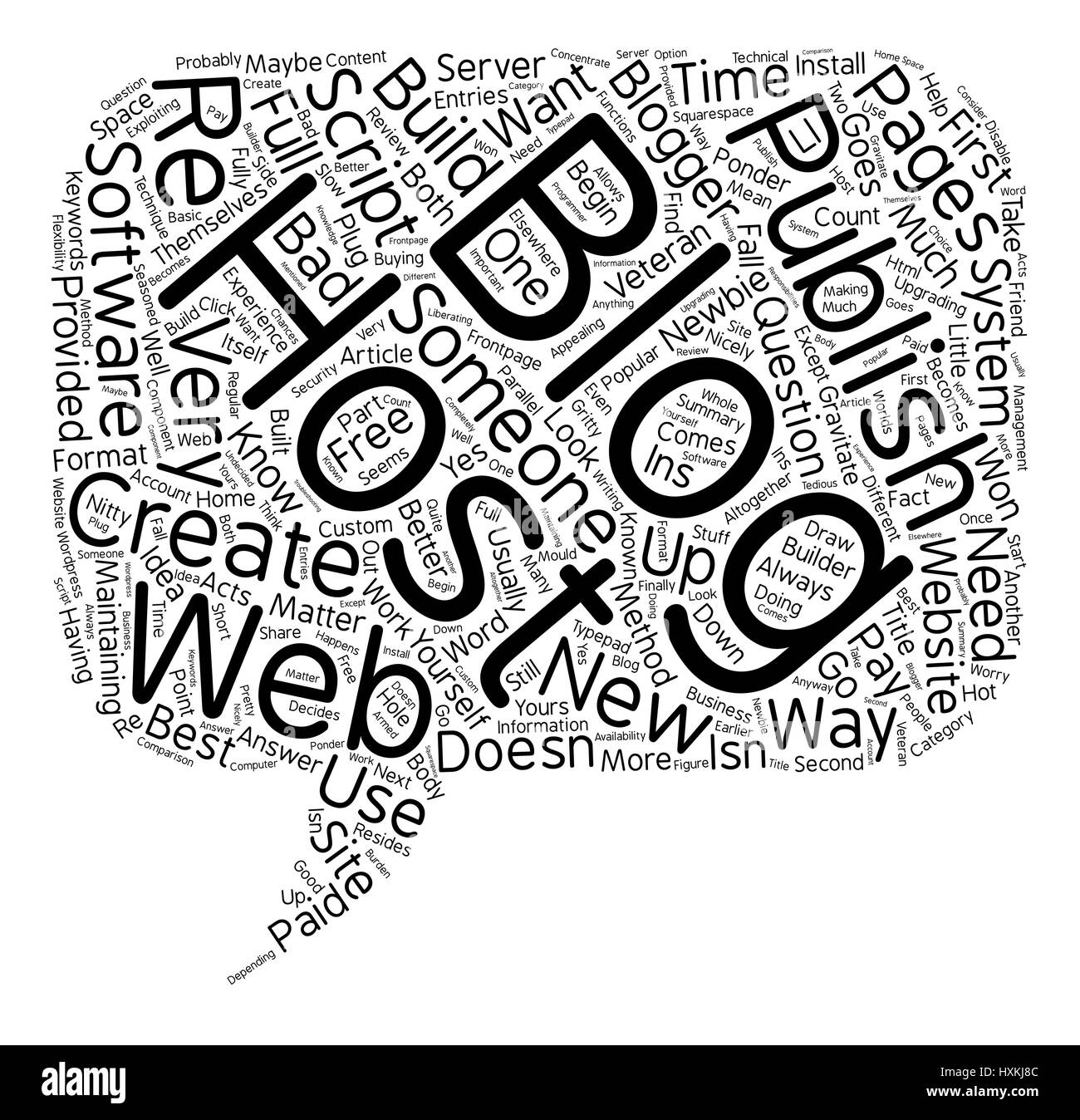 Where Should You Host Your Blog text background wordcloud concept - Stock Vector