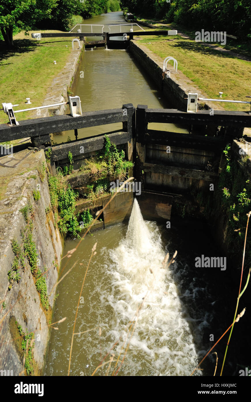 Heathy Close lock, Kennet and Avon canal. - Stock Image