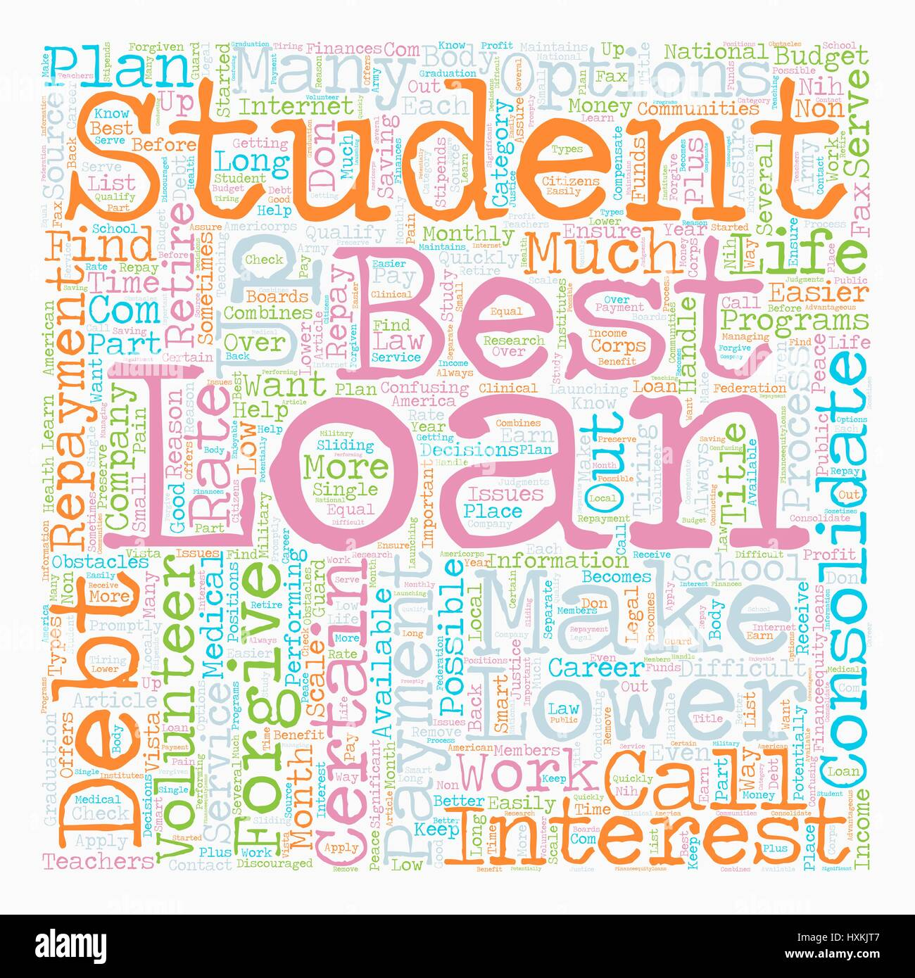 Why Consolidate Student Loans text background wordcloud concept Stock Vector