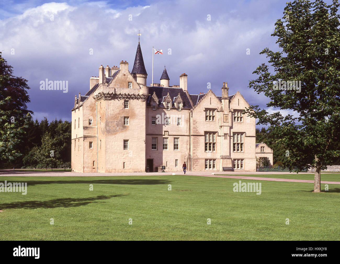 Brodie Castle and grounds, Forres, Moray, Scotland, United Kingdom - Stock Image