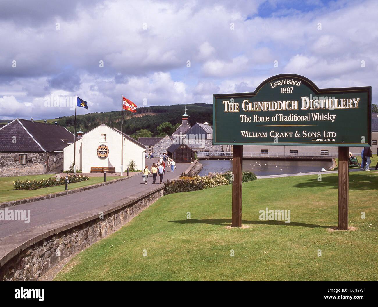 The Glenfiddich Distillery, Dufftown, Moray, Scotland, United Kingdom - Stock Image