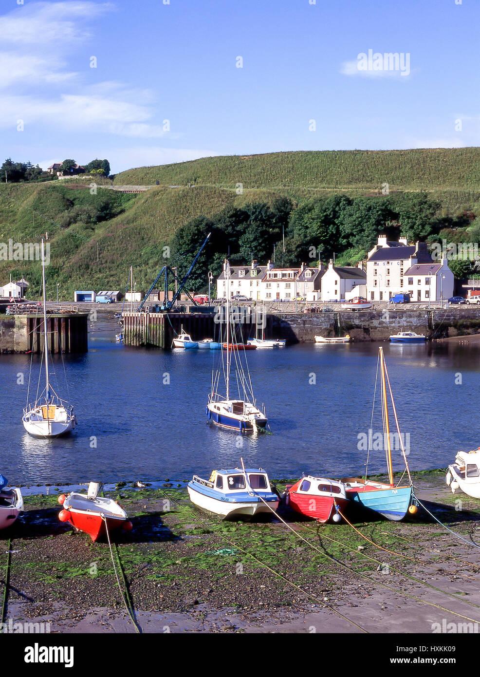 Harbour view, Stonehaven, Aberdeenshire, Scotland, United Kingdom - Stock Image