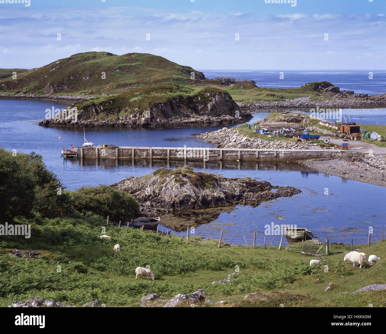 Culkein Drumbeg, Sutherland County, Highland, Scotland, United Kingdom - Stock Image