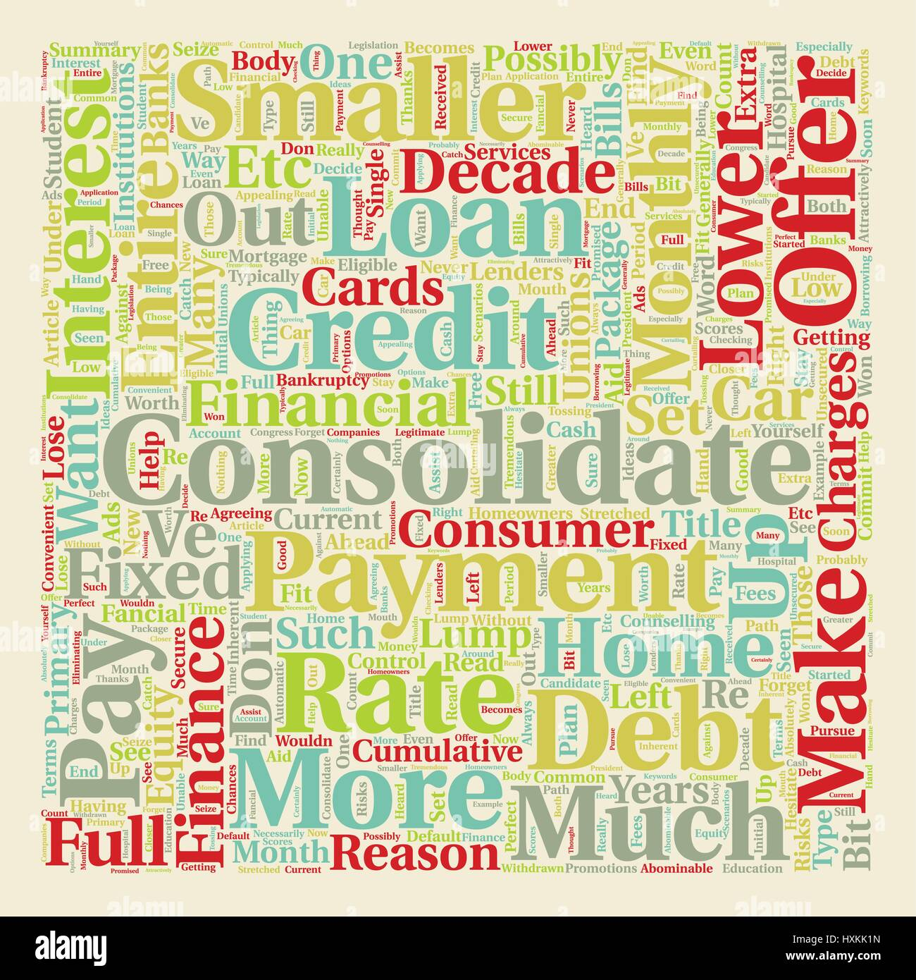 Why Do You Have To Consolidate text background wordcloud concept - Stock Vector