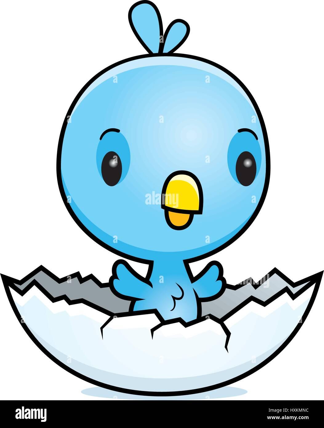 a cartoon illustration of a baby blue bird hatching from an egg rh alamy com baby bird cartoon images baby tweety bird cartoon