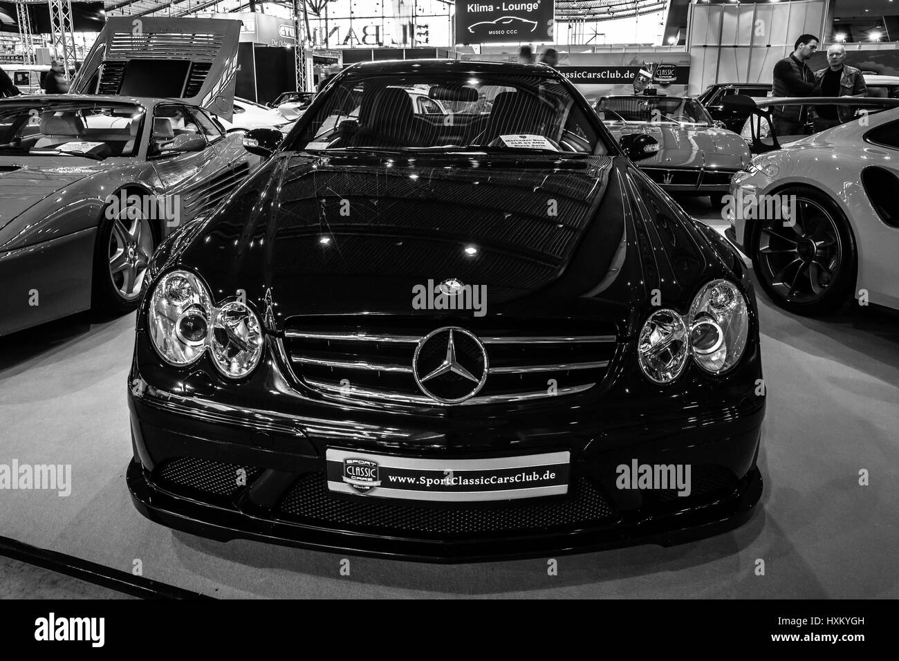 Mid-size Luxury Sports Car Mercedes-Benz CLK63 AMG Black