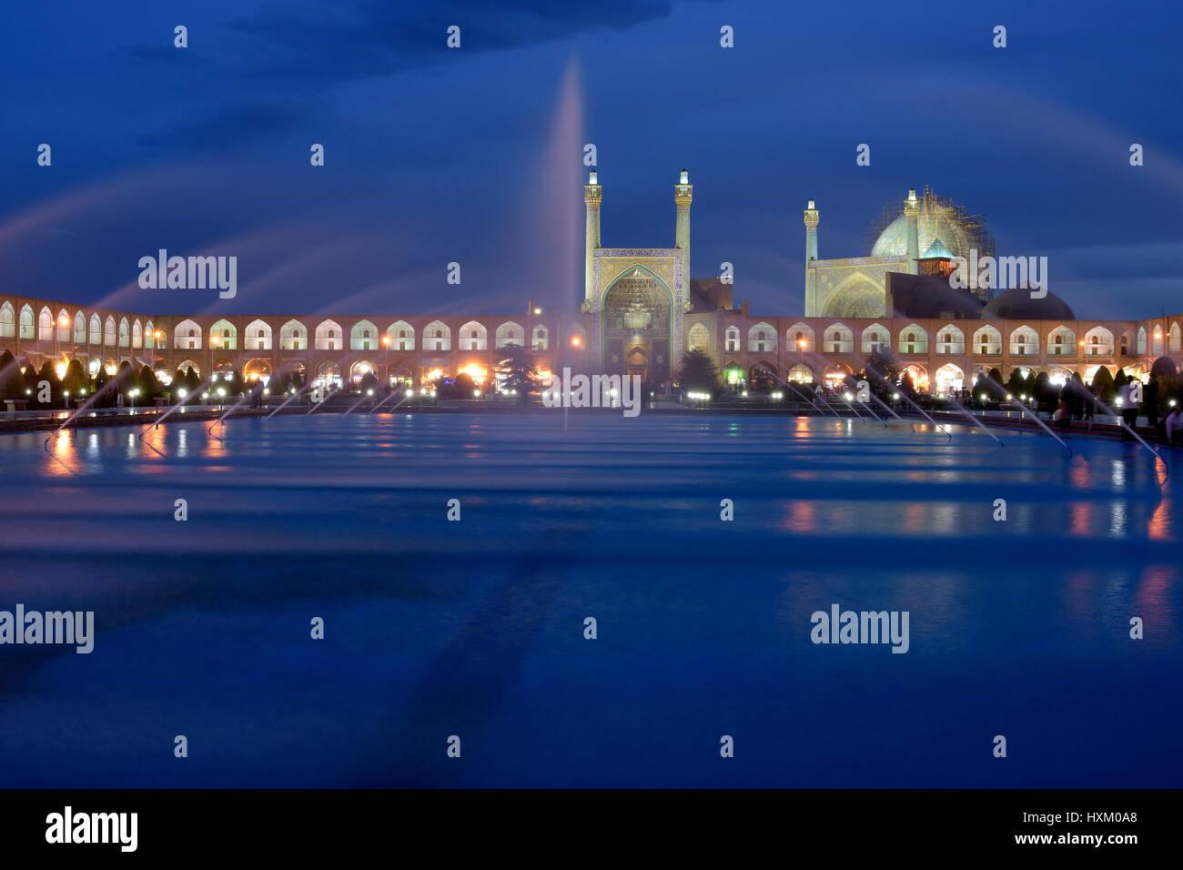 "Naqsh-e Jahan Square (Persian: میدان نقش جهان Maidān-e Naqsh-e Jahān; trans: ""Image of the World Square""), Esfahan, Stock Photo"