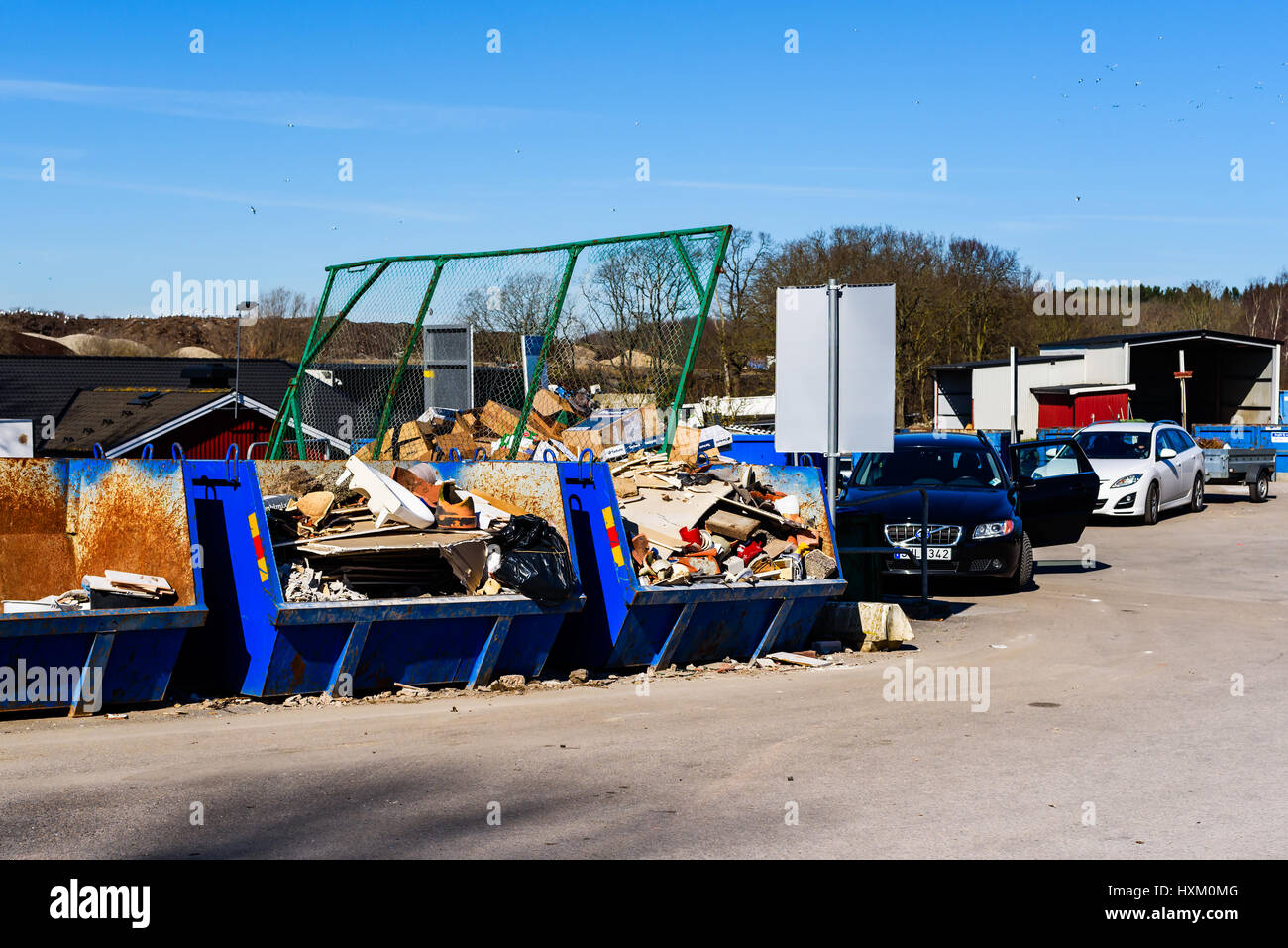 Ronneby, Sweden - March 27, 2017: Documentary of waste management ...