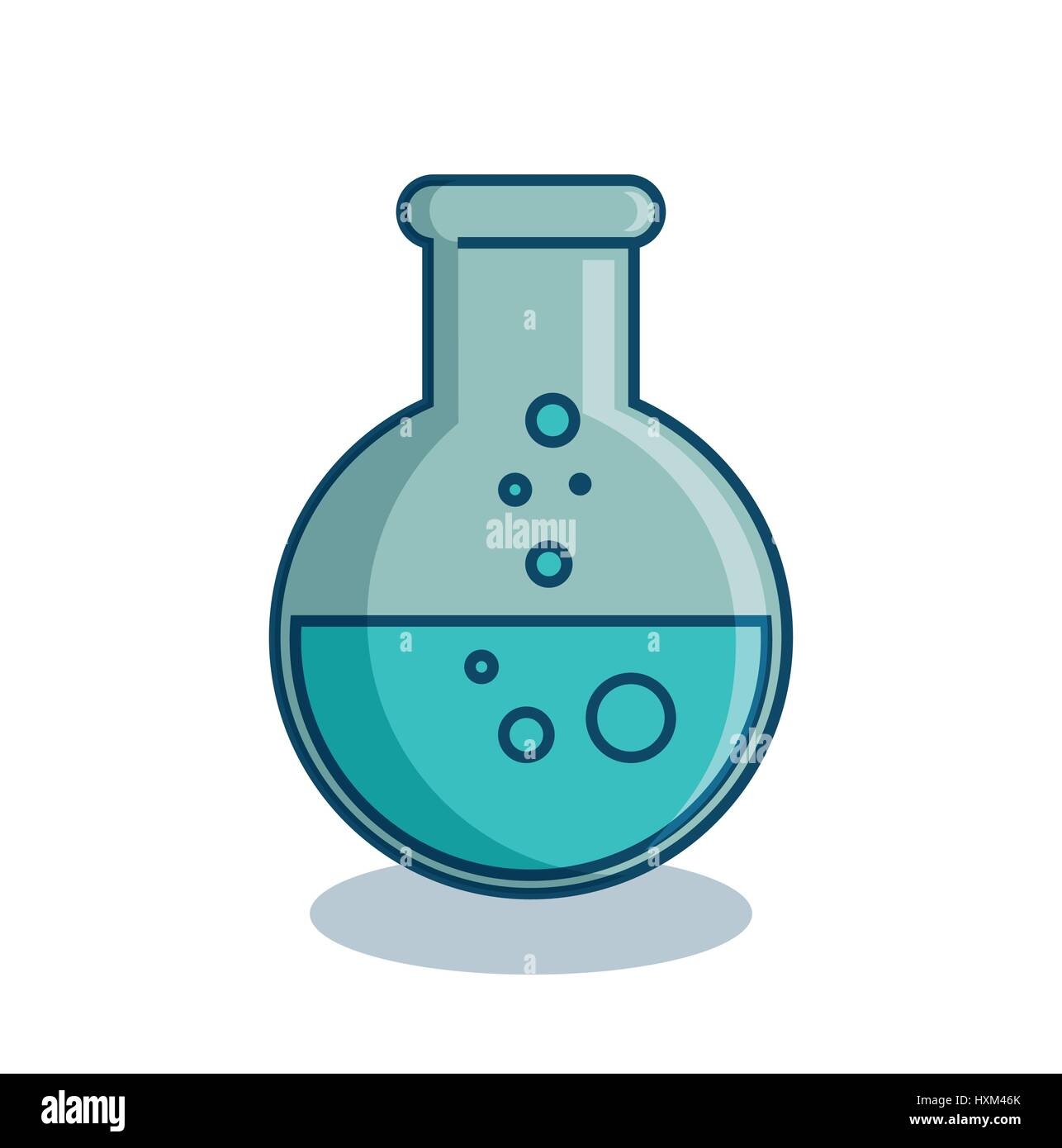 tube test isolated icon - Stock Image