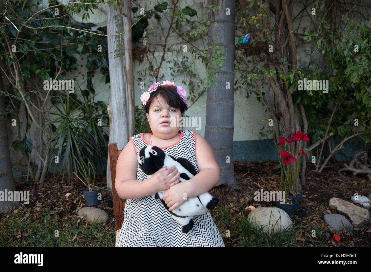 Ana Ximena Navarro is pictured at her home in Guadalajara, Mexico on February 22, 2017. Ximena was diagnosed as - Stock Image