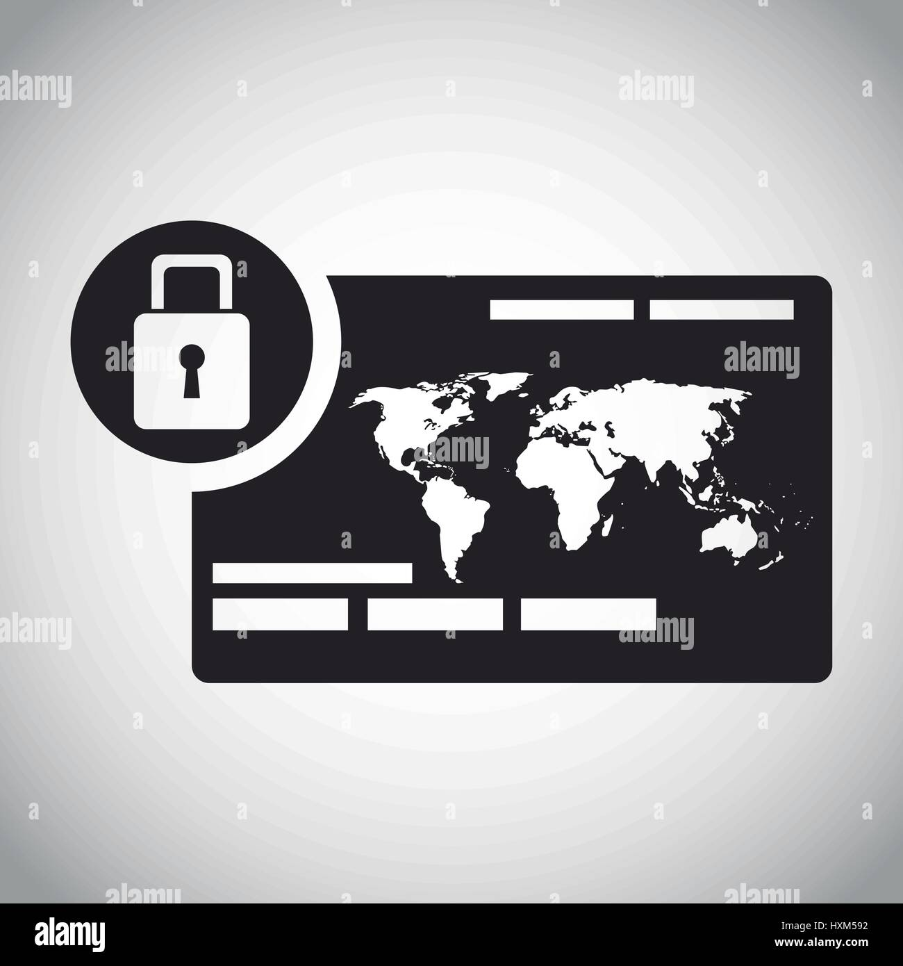 security system global information - Stock Vector