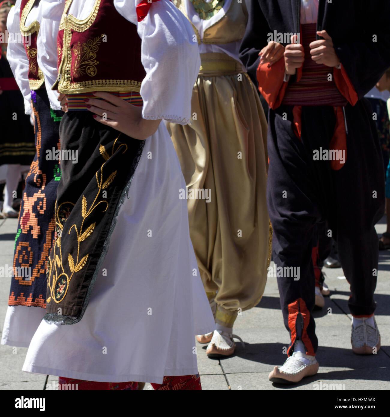 Dancers of Republika Srpska - Stock Image