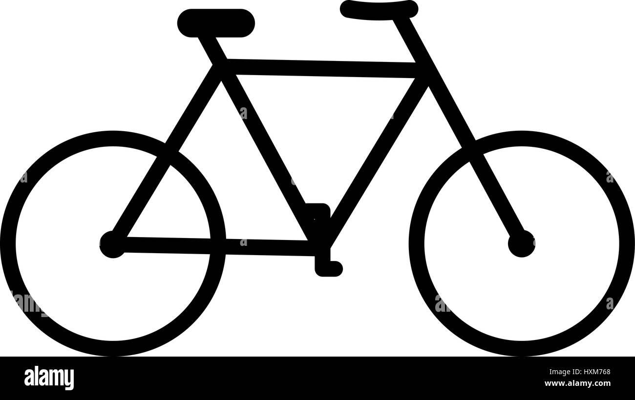 Bicycle icon on white background. Vector illustration. - Stock Image