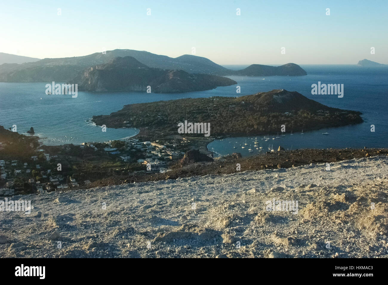 View of suggestive scenery of the Aeolian Islands Stock Photo