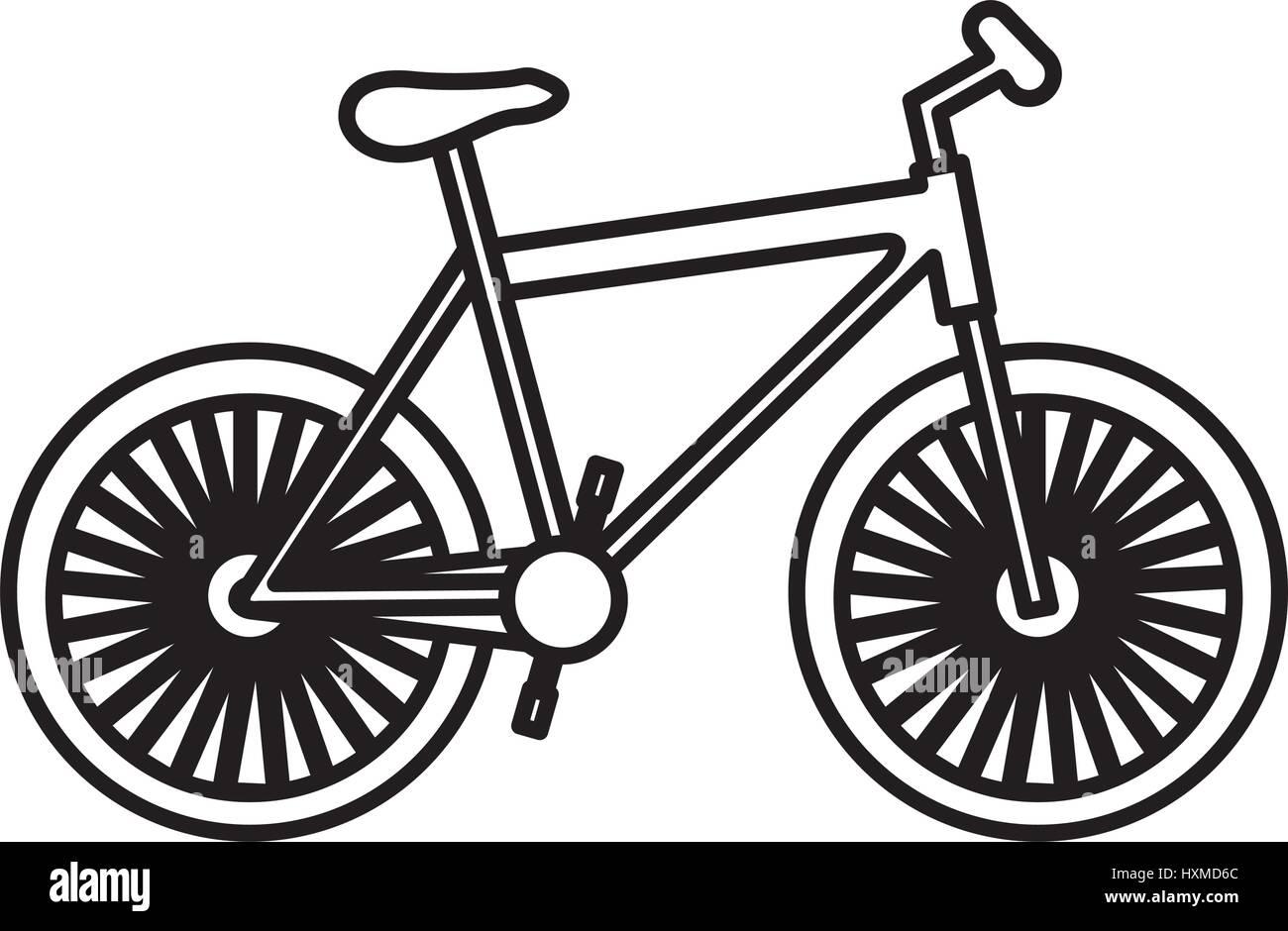 figure bicycle transportation image - Stock Image