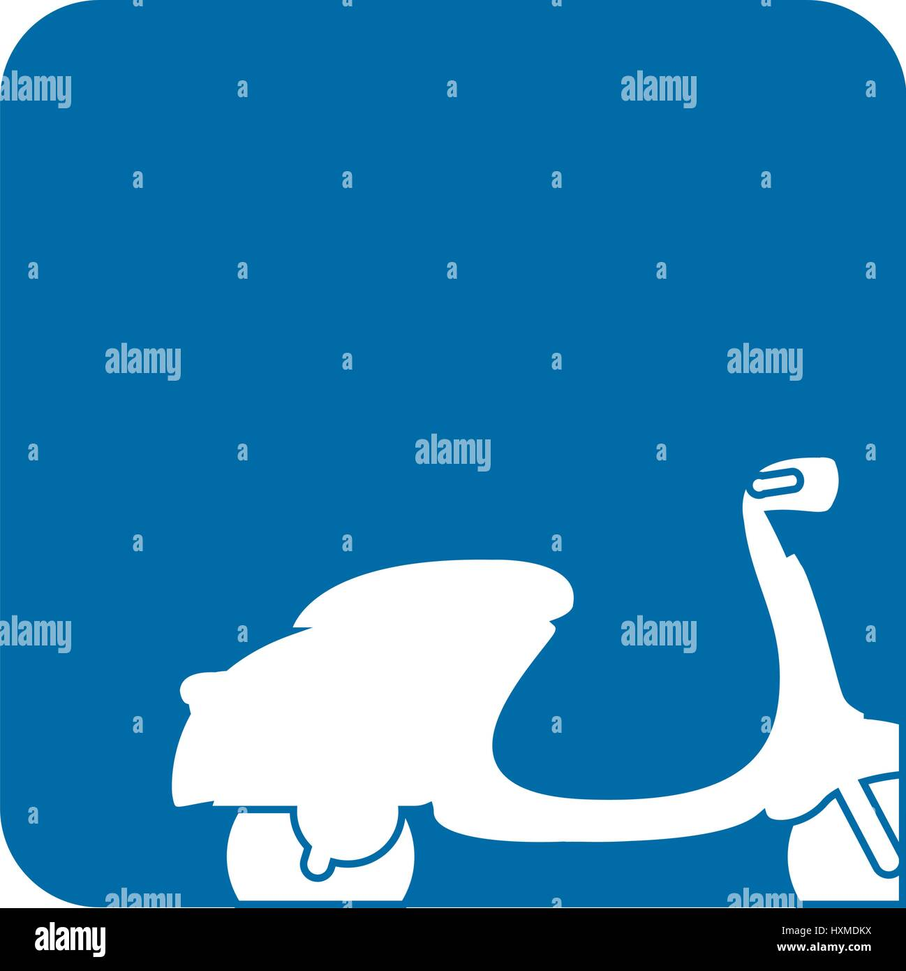 picture moped transport icon - Stock Vector