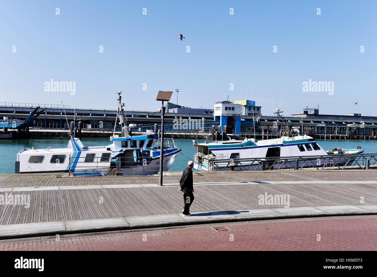 Port of Boulogne sur Mer, France - Stock Image