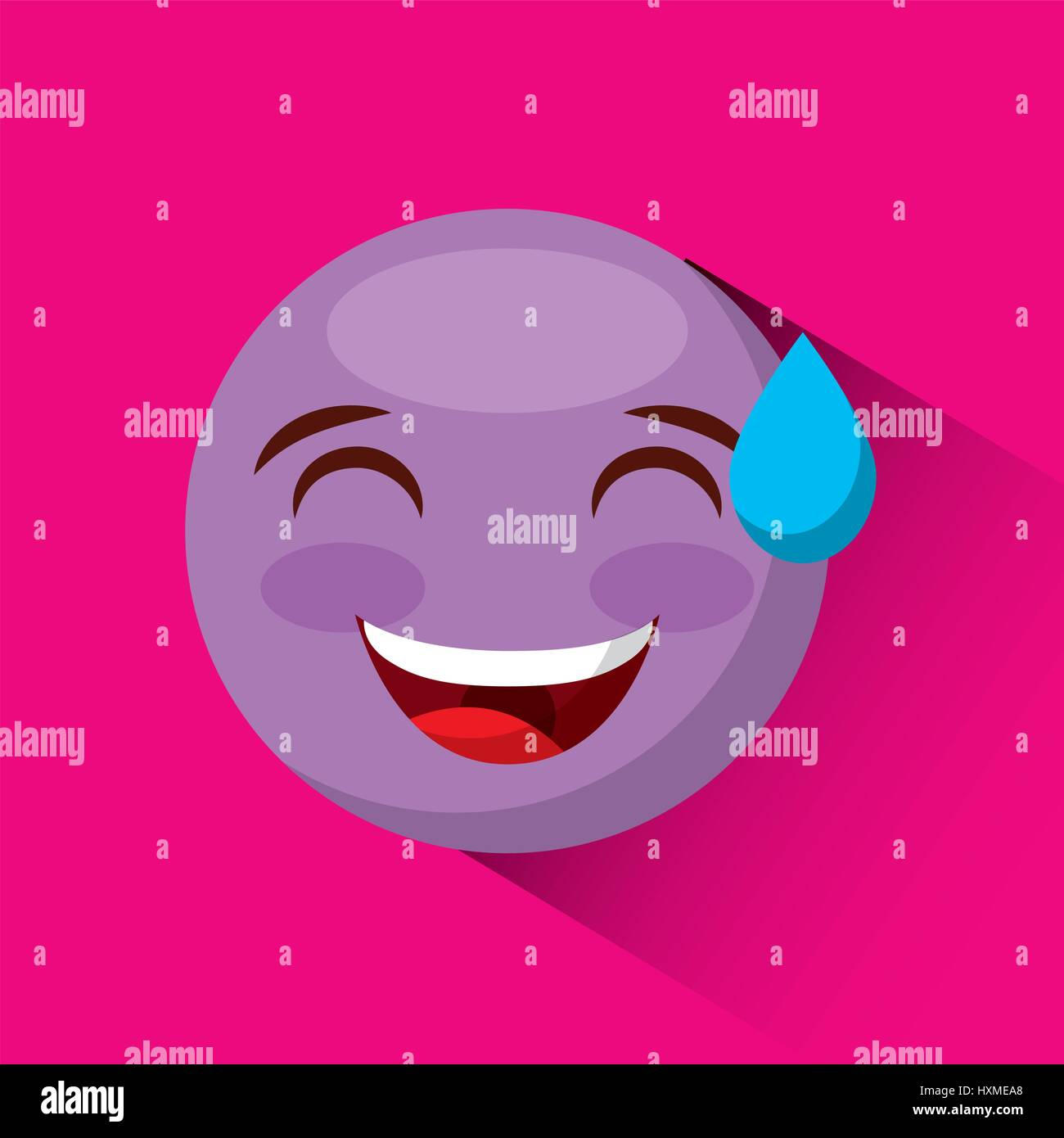 emoticon face icon - Stock Vector