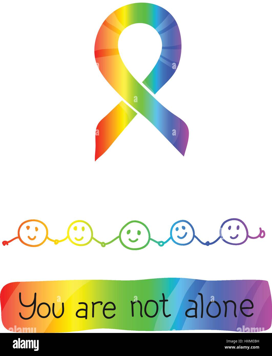 World Autism Awareness Day April 2 2017 Rainbow Color Of Ribbon