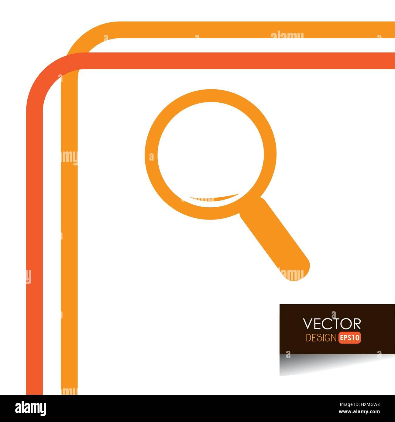 Search icon design  - Stock Vector