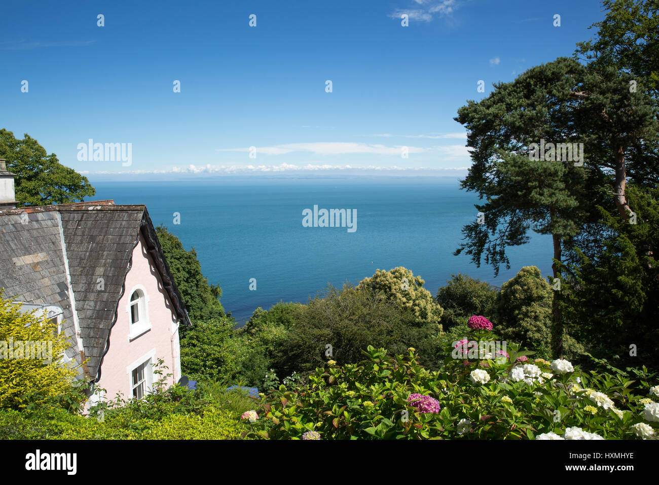 Lynton Devon summer Stock Photo