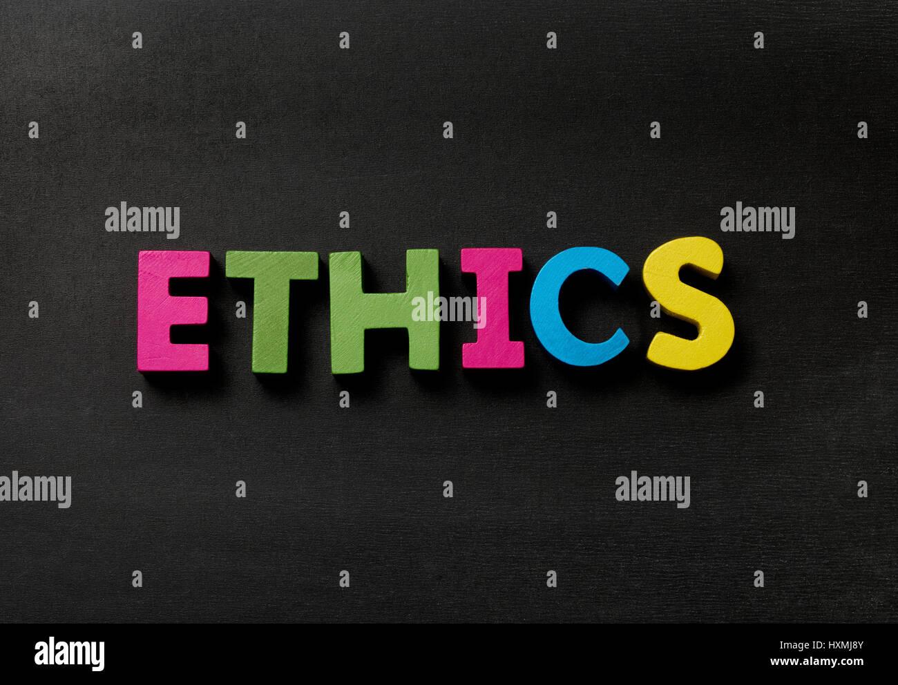 Blackboard with Ethics - Stock Image