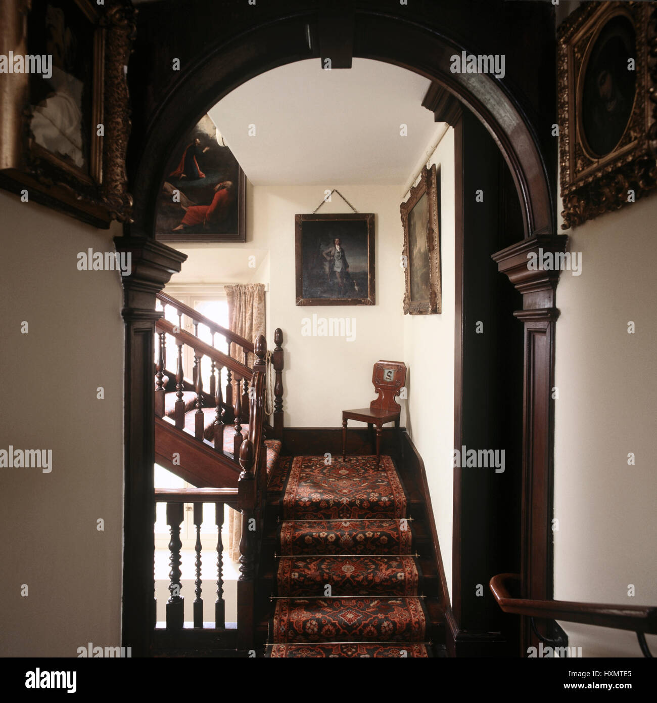 Victorian Style Wooden Staircase.   Stock Image