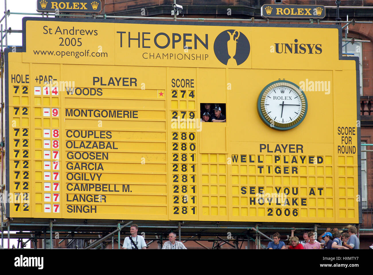 Open Golf Scoreboard Leaderboard Stock Photos & Open Golf Scoreboard ...