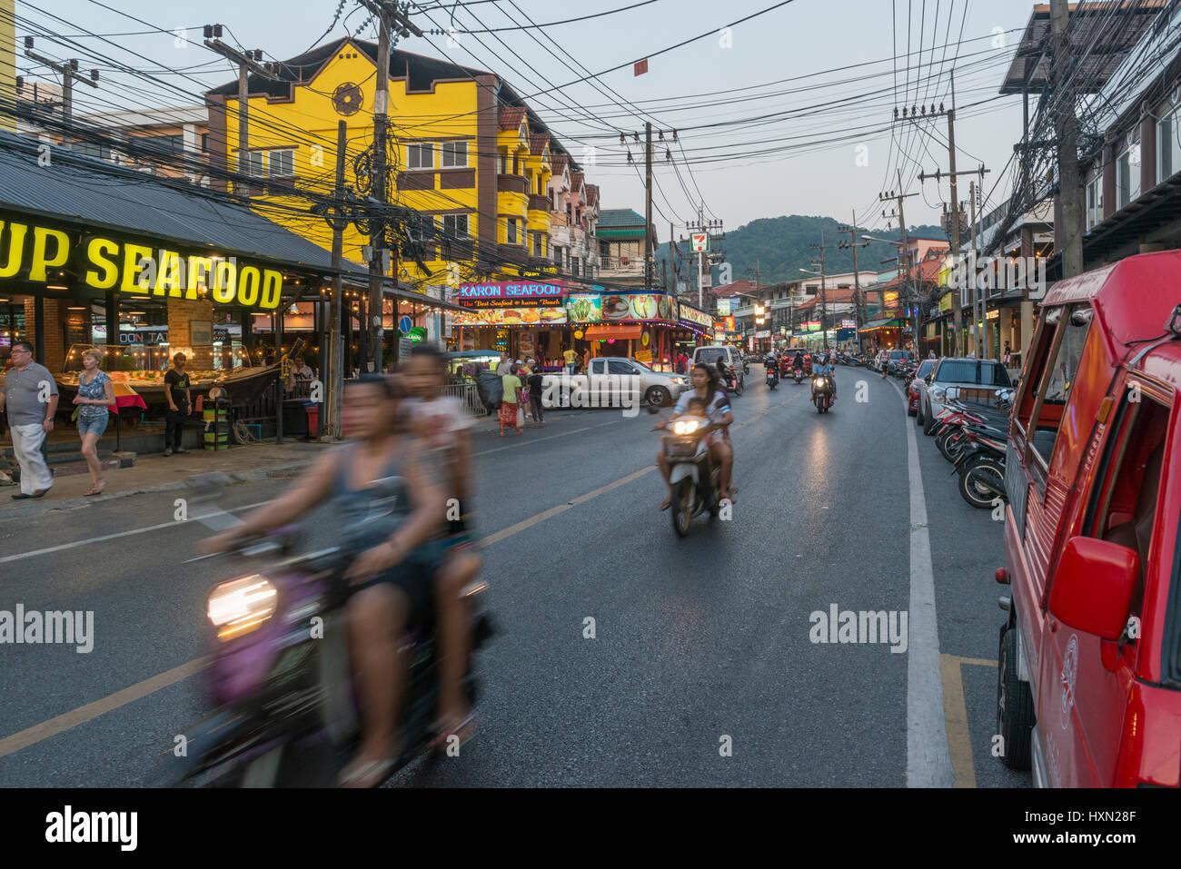 General scene at Karon town in Phuket, Thailand. 08-Mar-2017 - Stock Image