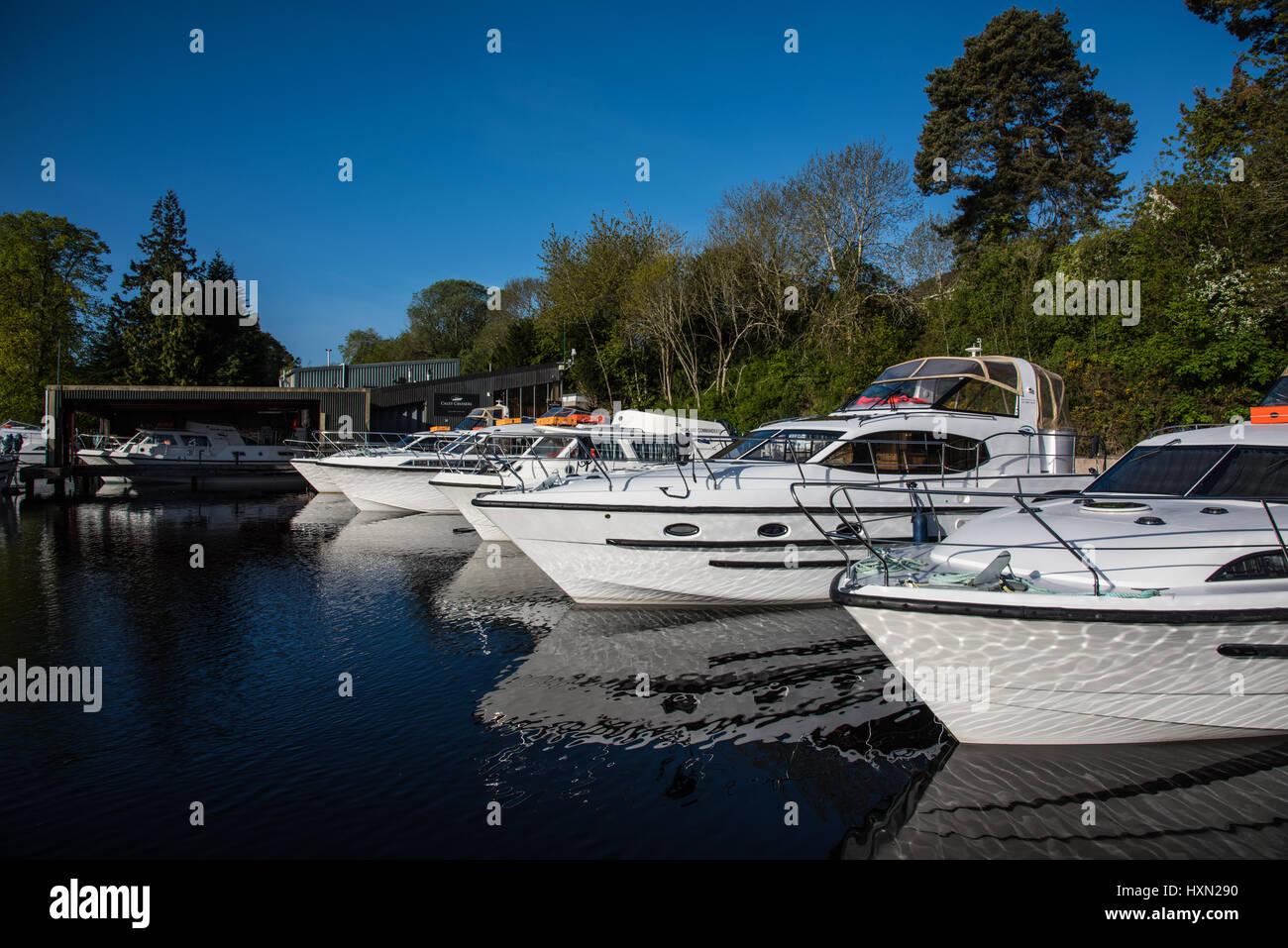Caley Cruisers marina, Inverness, Highlands, Scotland, UK. - Stock Image