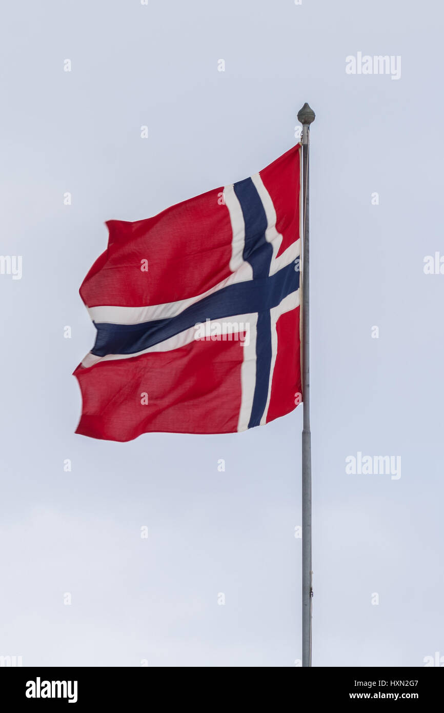 norges flagg, nasjonal, national, flag, norway, norge - Stock Image