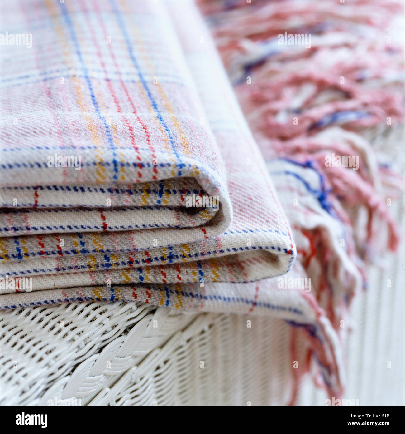 Checked pattern blanket. - Stock Image