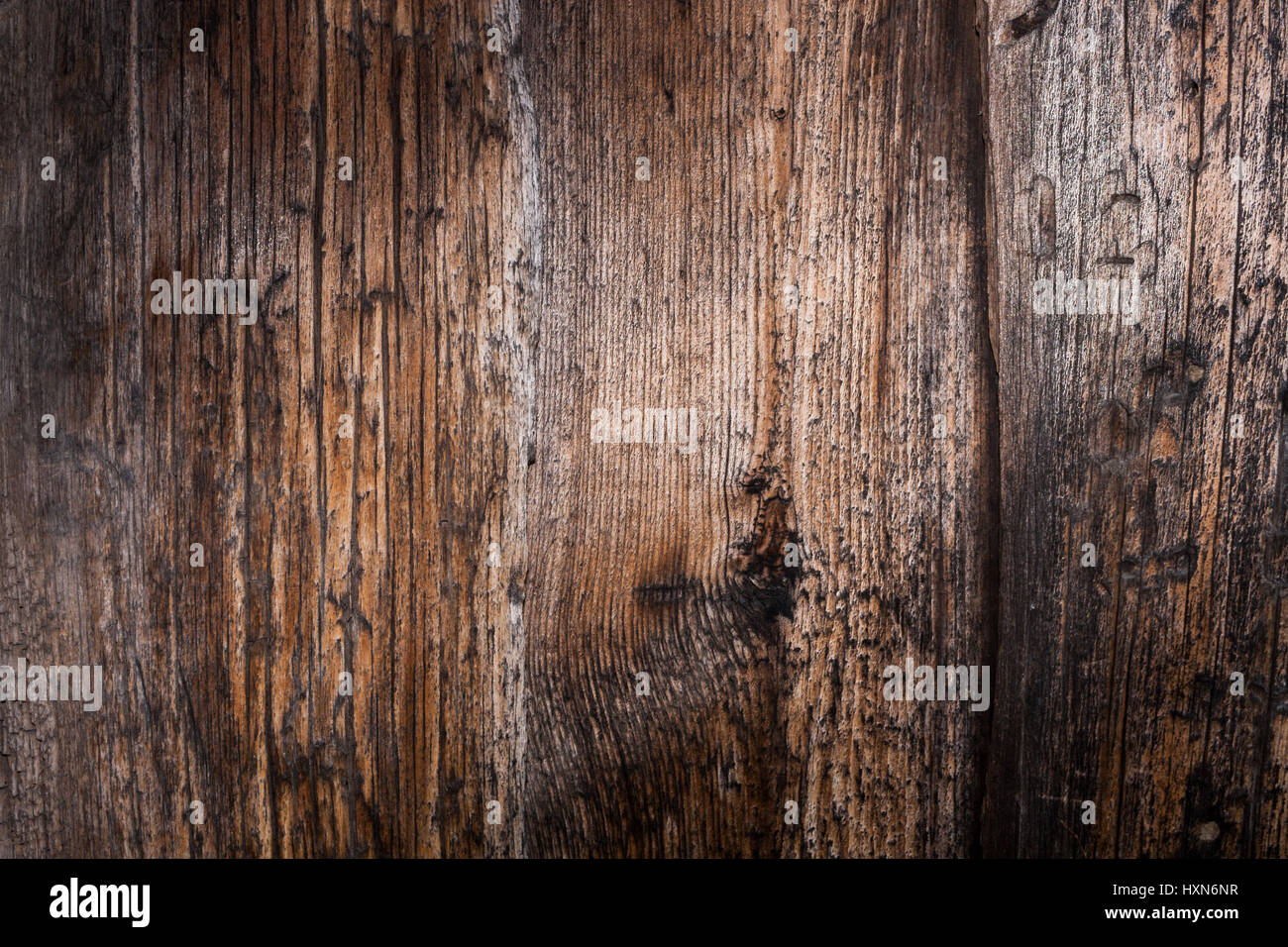 Wooden natural background  Wall of old wooden planks  Well