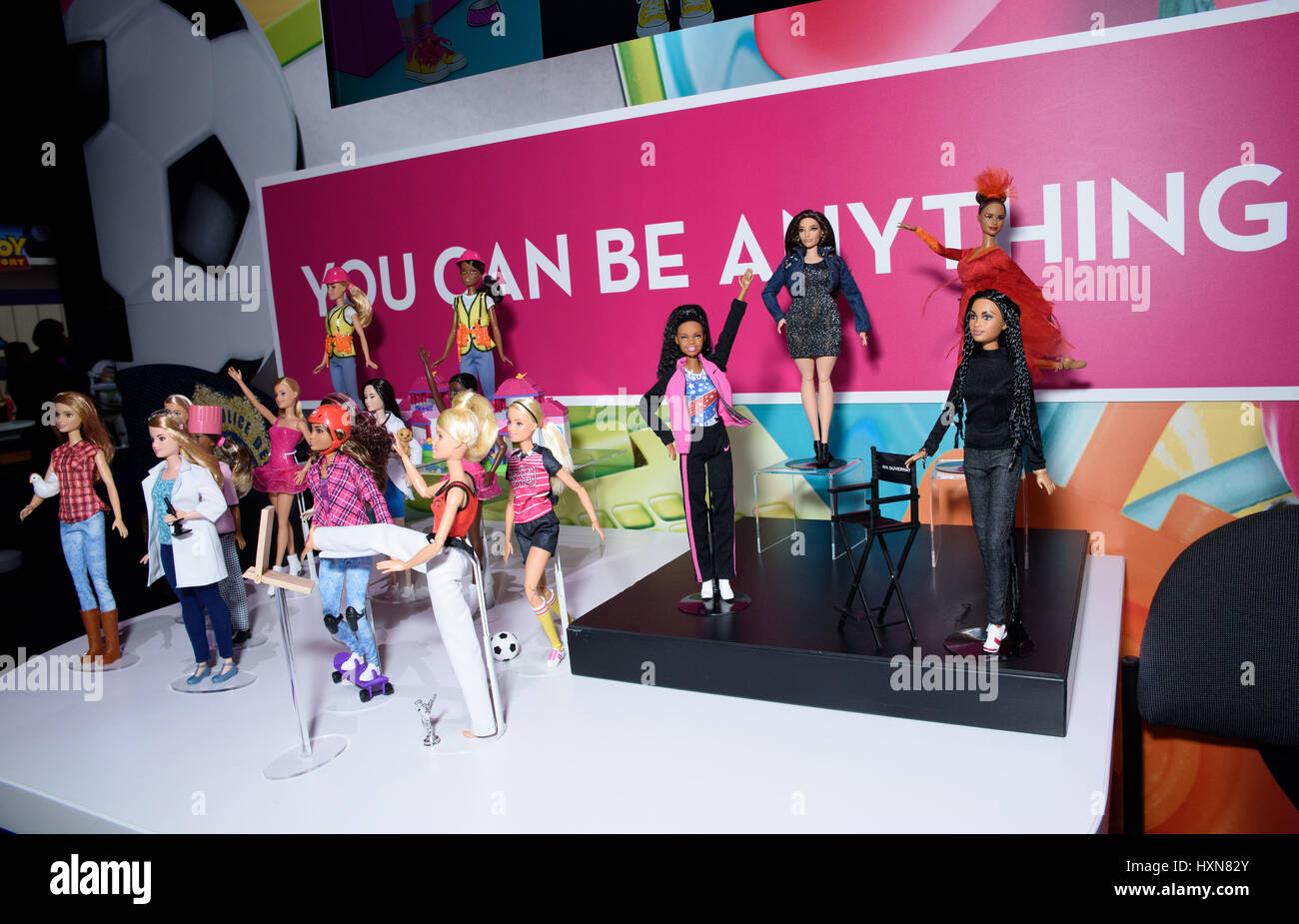 new york toy fair 2017 featuring mattel barbie dolls where new