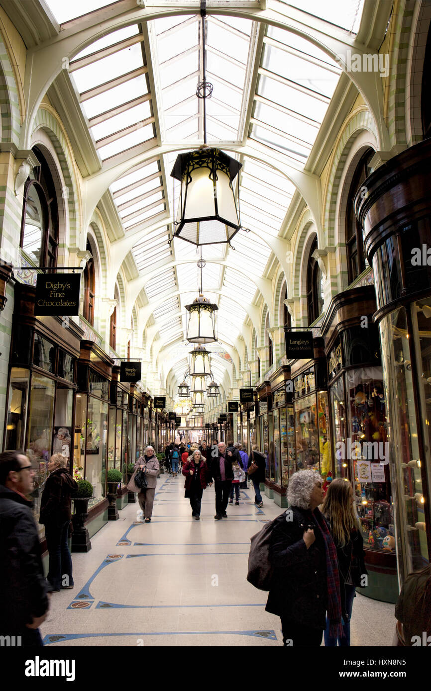 Royal Arcade Norwich UK - Stock Image