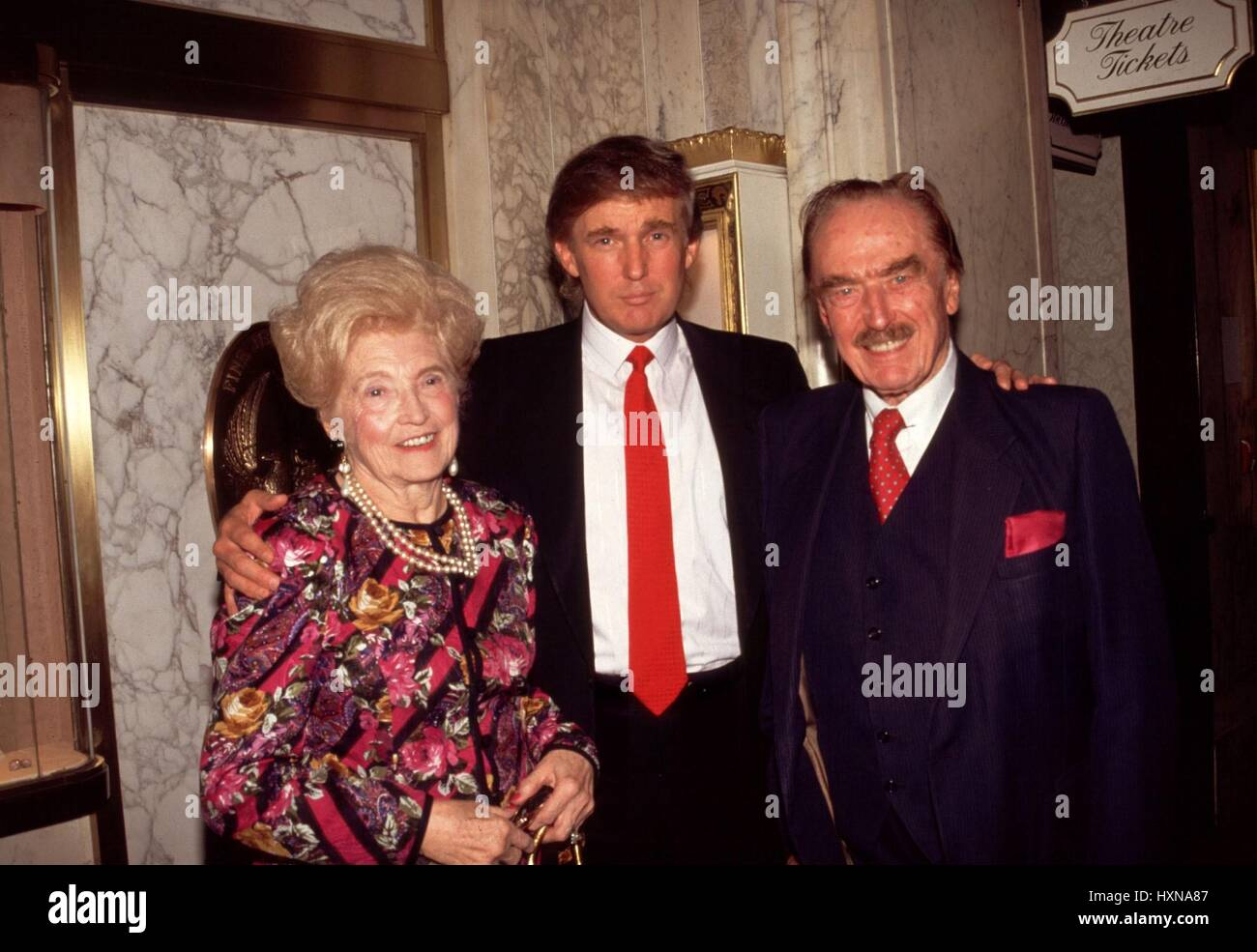 Donald Trump with his parents Mary and Fred Trump  1994  © RTalensick / MediaPunch Stock Photo
