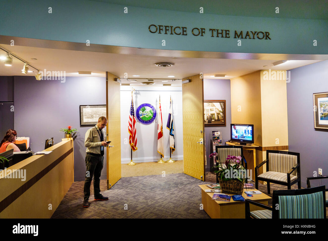 orlando florida city hall local government civic centre center stock