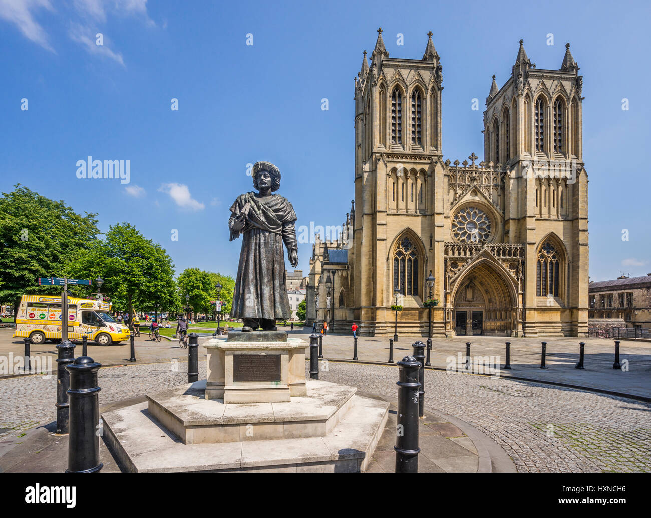 United Kingdom, South West England, Bristol, statue of Ram Mohan Moy, the Father of the Indian Renaissance at Bristol - Stock Image
