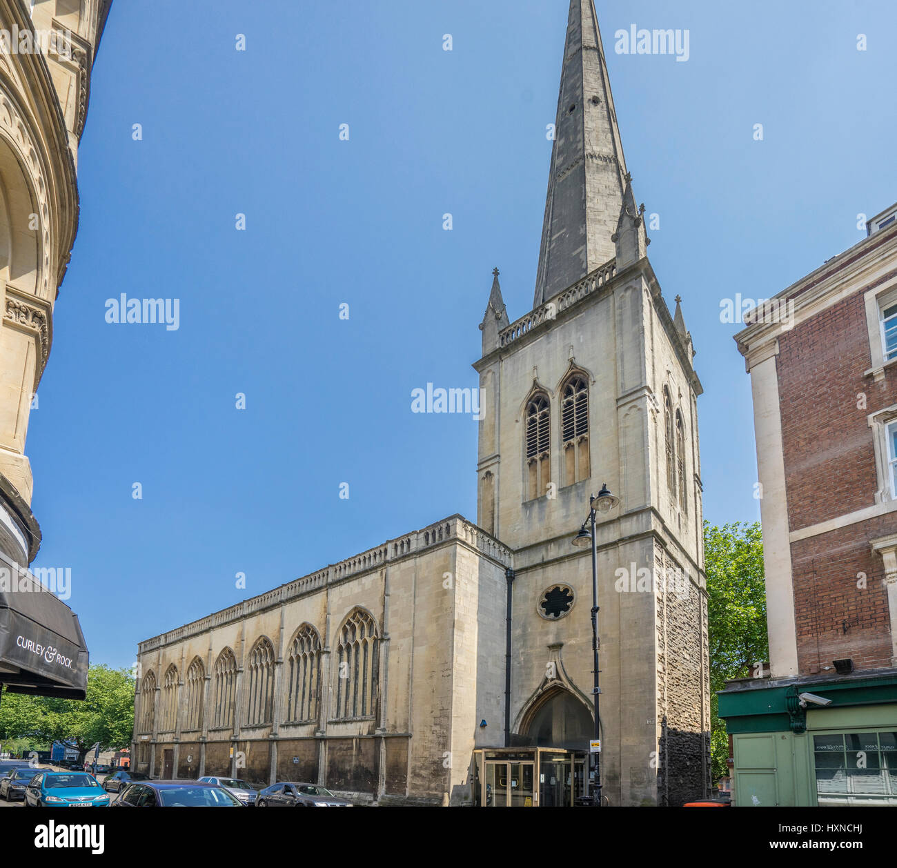 United Kingdom, South West England, Bristol, the former Church of St Nicholas today houses council offices - Stock Image